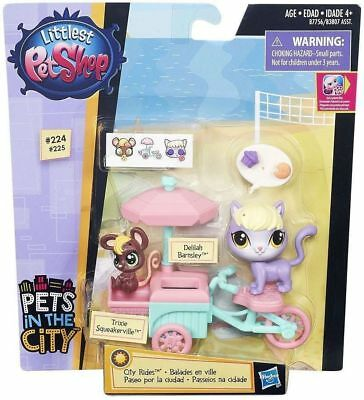 Littlest Pet Shop City Rides Tricycle + Delilah Barnsley & Trixie Squeakerville