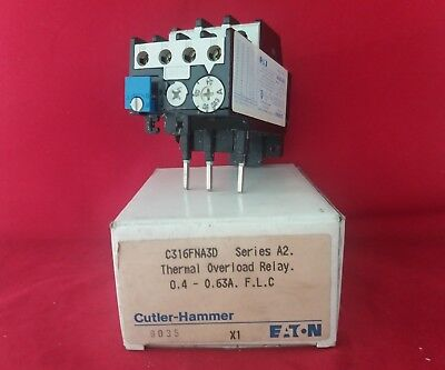 Eaton C316Fna3D 0.4-0.63Amp Overload Relay