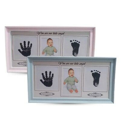 Photo Frame Kit Newborn Baby Handprint and Foot with Clean Touch Ink Pad