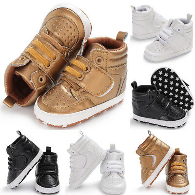 Baby Shoes Soft Bottom Anti-skid PU Leather Shoe For Infant Toddler Boys Girl US