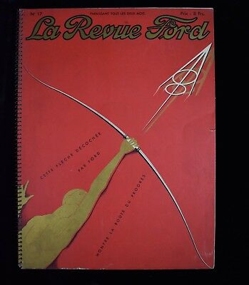 Magnificent 1932 La Revue Ford V8 Full Color French Large Auto Advertising Book