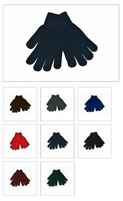 6x Children Kids Girls Boys Hand Warming Knitted Gloves School Uniform 2-15 Yrs