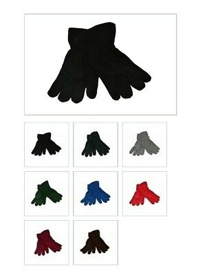 6x Children Kids Girls Boys Hand Warming Fleece Gloves School Uniform 2-15 Yrs