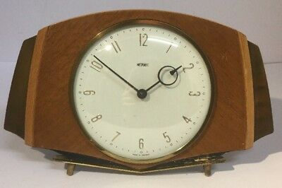 Metamec Mantle Clock, Art Deco Style, Clockwork, Running