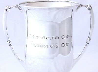 Solid Silver Motor Racing Sports Trophy Cup 24 4 Motor Club Clubman's Cup 1932