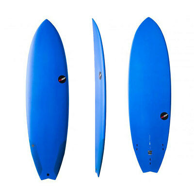 "NSP Surfboard Protech 6'8"" Fish Blue Wellenreiboard Surf"