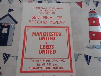 69/70 Leeds United  V Manchester United Fa Cup Semi Final 2 Replay At Bolton