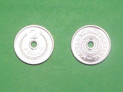 Hungary 1973  2 Filler  Uncirculated Coin