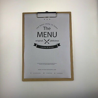 Menu Clipboard MDF Customisable Wooden