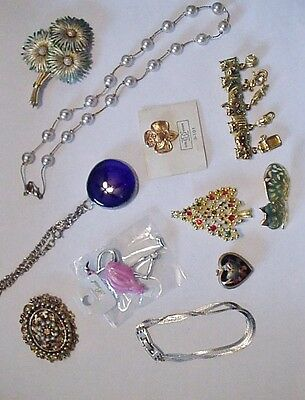 Lot of 11 Pieces Vintage Jewelry Estate AJC Monet UltraCraft