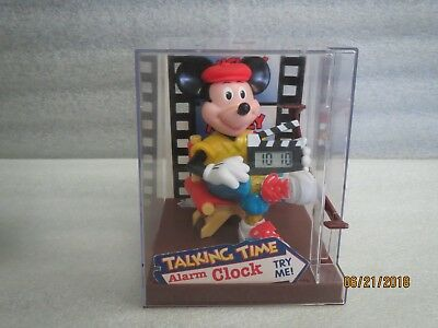MICKEY-MOUSE-DIRECTOR Talking Alarm Clock with 3 NEW Batteries($8.00)Works Great