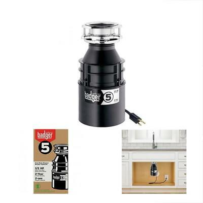 Garbage Disposals InSinkErator Badger With Power Cord, 1/2 HP