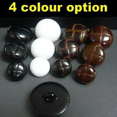 10/30/100x Football Coat Jacket Plastic buttons shank on back 15mm/20mm/25mm