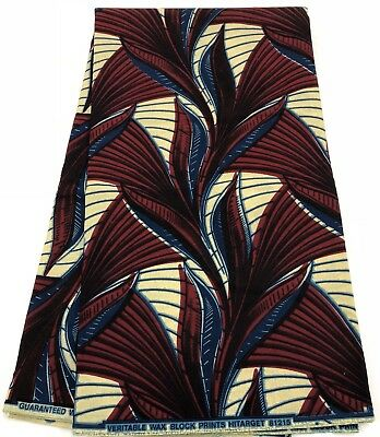 AWESOME African Print Fabric /Ankara Print;Wax Prints; 6 Yards; 100% Cotton