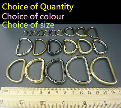 Metal D Rings Dee Loop Buckles DIY/Replacement Handbag/Bag/Purse Webbing Strap