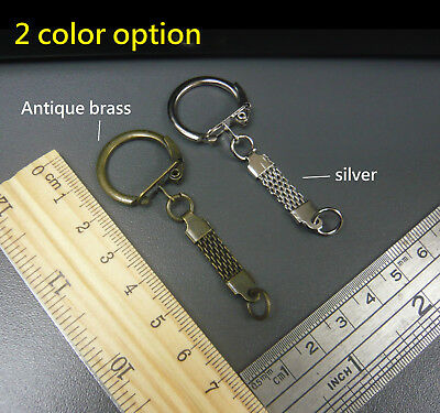 Lever Side Fancy Flat Chain Key Ring Outer dia.22mm DIY Bag Charm/ Finding Craft