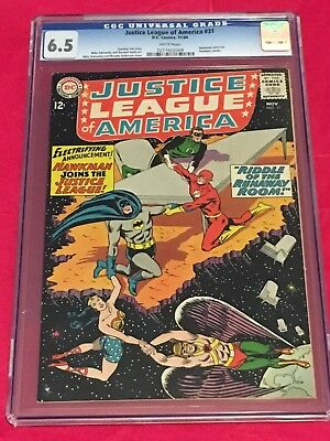 JUSTICE LEAGUE OF AMERICA 31 CGC 6.5 BATMAN WONDER WOMAN FLASH Sekowsky 1964