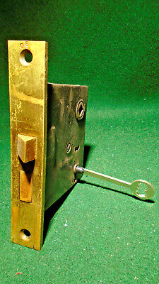 Two Vintage Small Corbin Brass Cabinet Mortisel Locks, Very Nice Ppd (1400-X2)