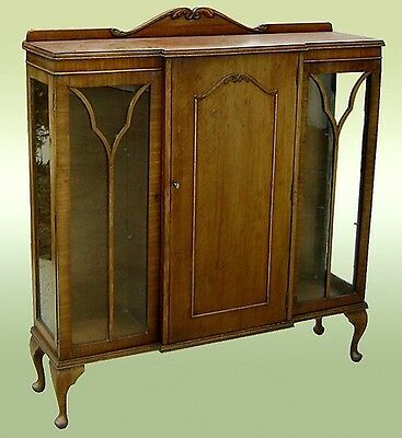 Art Deco 1925 Bookcase English in Satin Oak