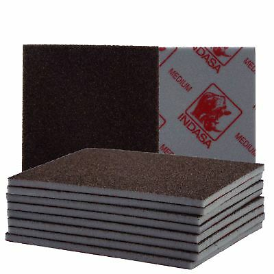 Indasa Sponge Sanding Pad 115 x 140mm Medium 10 Pads Supplied Wet or Dry Use