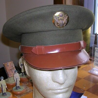 WW2 U.S. NCO/Enlisted Named Visor by LEWIS, Excellent!!!
