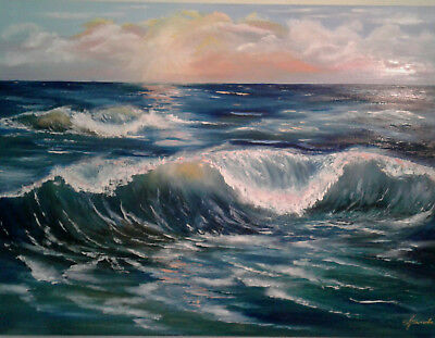 Wave Oil painting picture Large size