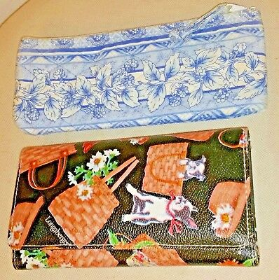 (2)LONGABERGER Accessories(Tri-Fold Wallet & Fabric Zip Top Pouch)
