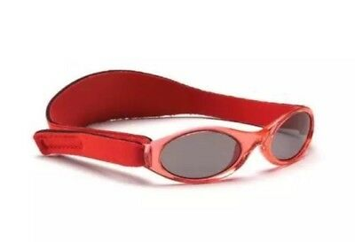 Baby Banz Adventure Sunglasses 100% UVA/UVB Protection - Red, Age 0-2yrs