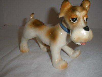 Comical Porcelain Dog Figurine Occupied Japan