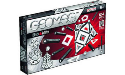 Geomag Panels Black & White, 104 Teilig (NEU)
