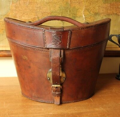 Antique Leather Top Hat Case Box. Henry Heath London. Home Decor. Shop Display