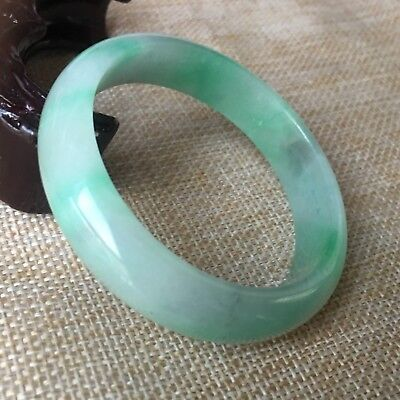 53mm Natural Lavender Green Jadeite jade Bangle BABY Bracelet Handmade A003