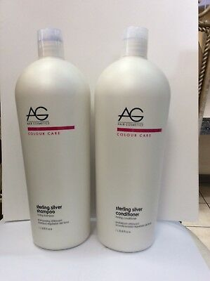 AG Hair Care Sterling Silver DUO Shampoo & Conditioner 33.8 oz  w/Free ship old