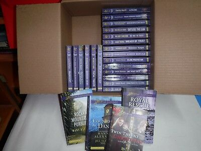 "Lot Of 24 Love Inspired Suspense By Assorted Authors ""large Print"""