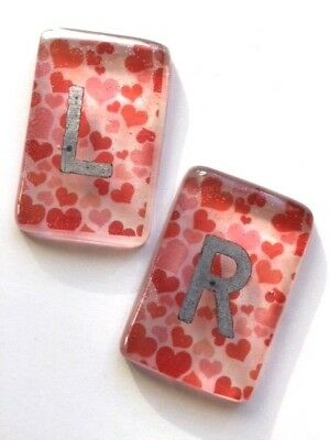 Clear Hearts Radiography X-Ray Markers - L & R - choose your own initials