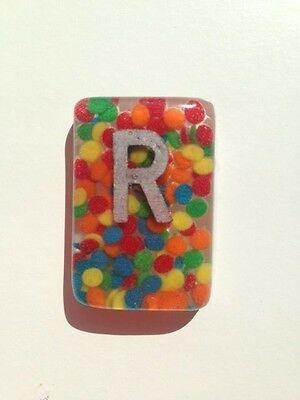 Bright Mix Confetti Radiography X-Ray Markers L & R - Choose Your Own Initials.