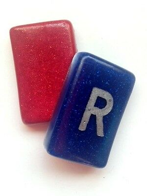 Pair of Radiography Markers - Red and Blue - add your own initials :)