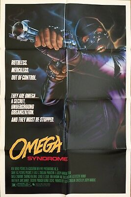 Omega Syndrome 1986 Original 27x41 One Sheet Movie Poster