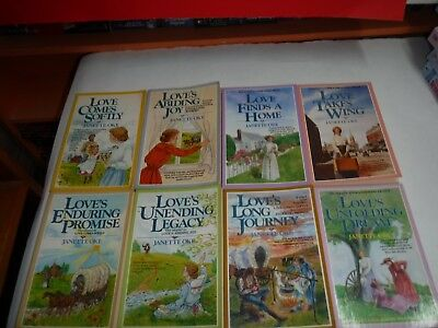 Lot Of 8 Trade Size Inspirational Novels By Janet Oke