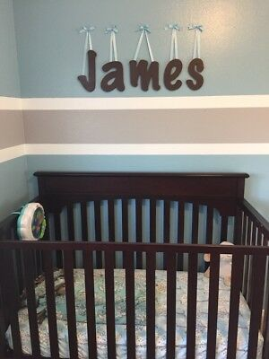 painted wooden wall letters 10 size home decor kids room baby nursery chalk