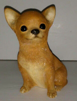 Sandicast Fawn Chihuahua Dog Figurine handcast and handpainted in USA