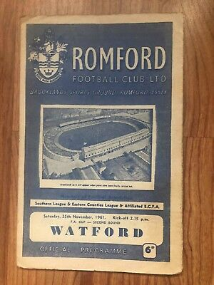 ROMFORD v WATFORD F.A CUP 2ND ROUND 1961