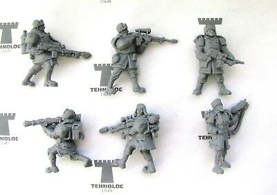 28 mm Ruthenian Guard set of 6 Sci-Fi Figures EXCLUSIVES! scaled to Warhammer 40