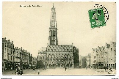 CPA-Carte postale- France -Arras - La Petite Place - 1914 (CP3766)