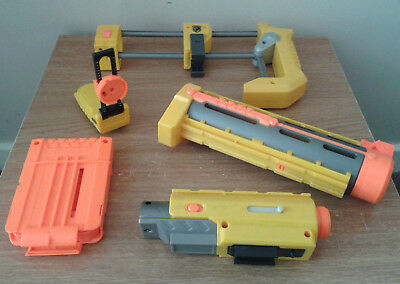 NERF Gun Recon CS-6 Accessory Bundle Inc Shoulder Stock Red Dot Viewer And More