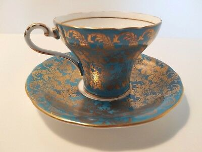 Aynsley corset tea cup and saucer-mint