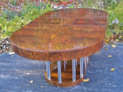 Great Art Deco style Burl Walnut Conference/dining set