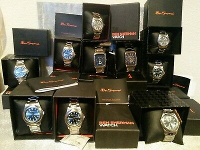 JOB LOT WHOLESALE 10 BEN SHERMAN Mens/ Gents/ Boys Watches Rrp£300 Designer look