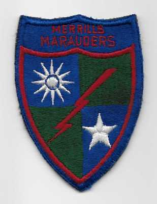 Original WW2, US made, Merrill's Marauders patch - SMALL LETTERING - US Army