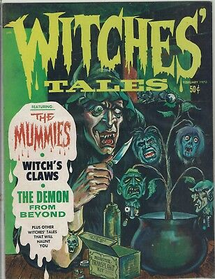 Witches Tales February  1970 Eerie Publications Nm
